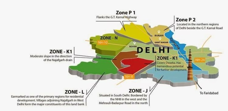 Graphic Ilustration Of Delhi Territories